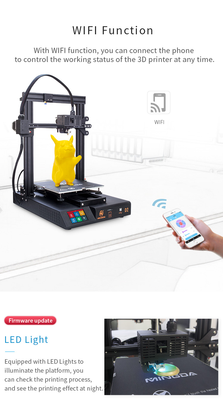 MINGDA D2 230*230*260mm DIY 3d printer (图3)