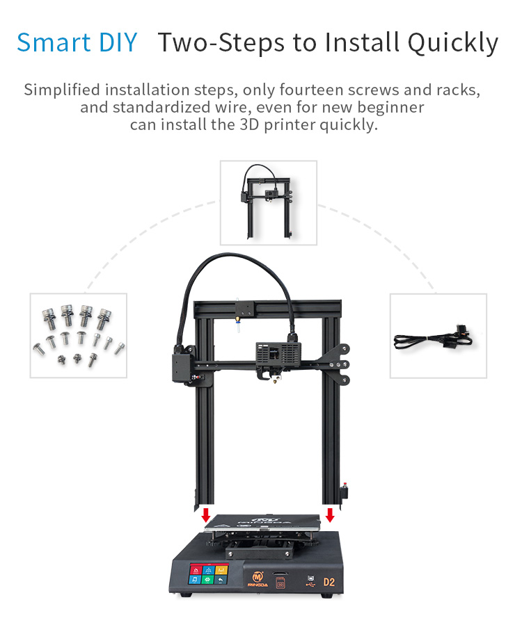 MINGDA D2 230*230*260mm DIY 3d printer (图4)