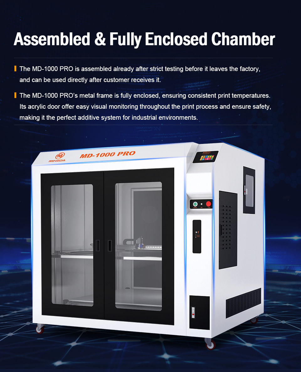 MD-1000 Pr Large Scale Printing Size 1m*1m*1m MINGDA 3D Printer for Plastic Models with PLA Filament(图2)