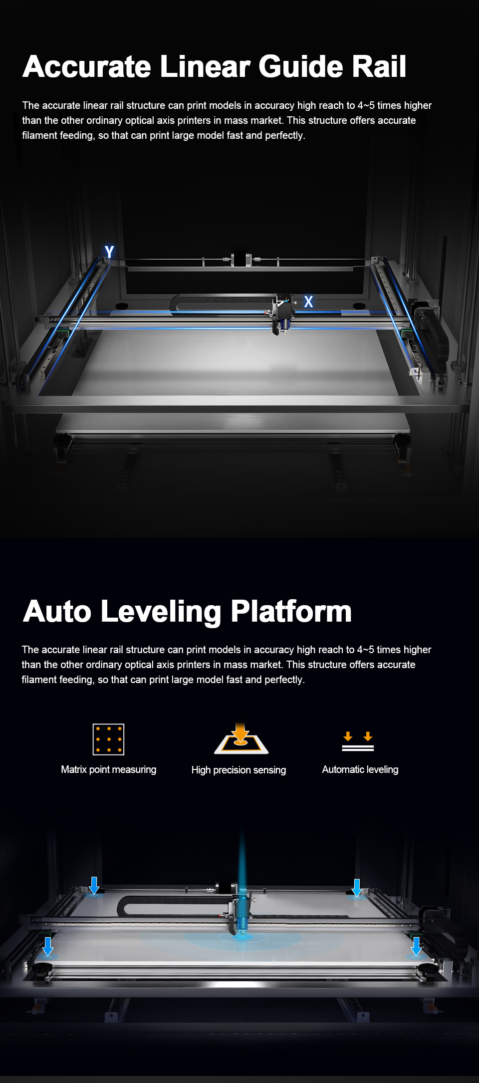 MD-1000 Pr Large Scale Printing Size 1m*1m*1m MINGDA 3D Printer for Plastic Models with PLA Filament(图4)